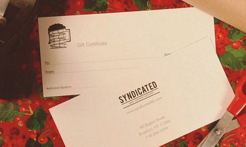 Syndicated brand gift certificates