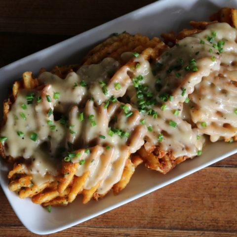 cheesy waffle fries