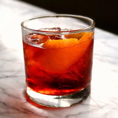 Mezcal Negroni cocktail